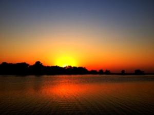 Sunset Mississippi River