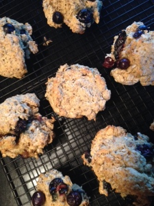 vegan-lemon-blueberry scones