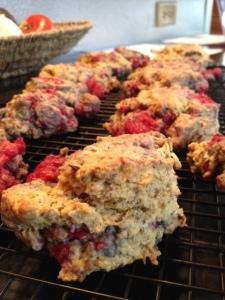 vegan lemon-raspberry scones