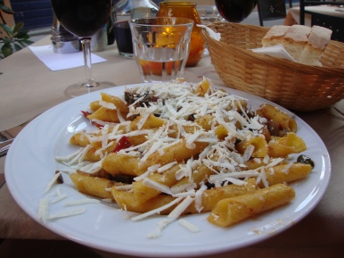 Fresh pasta in Italy.