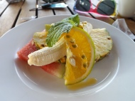 A delicious and refreshing fresh fruit plate to start our day in Nicaragua.