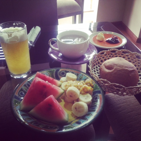 breakfast in Ecuador
