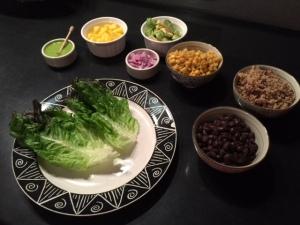 vegan Mexican lettuce wrap ingredients