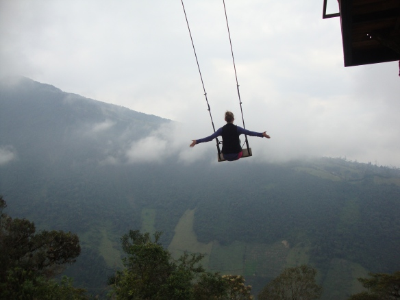 Swinging in Ecuador