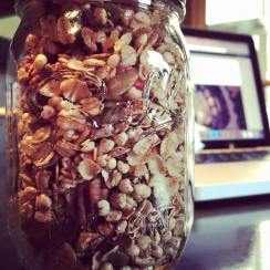 Healthy, homemade muesli