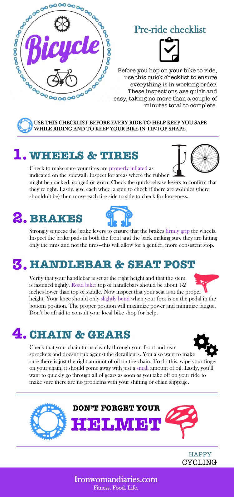 Bicycle: Pre-ride checklist