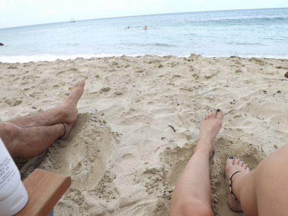 Legs on the beach in St. Croix