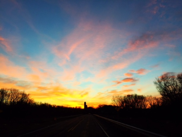sunset in Wisconsin