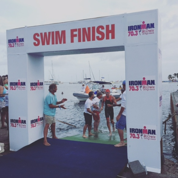 Swim Finish-St. Croix Ironman